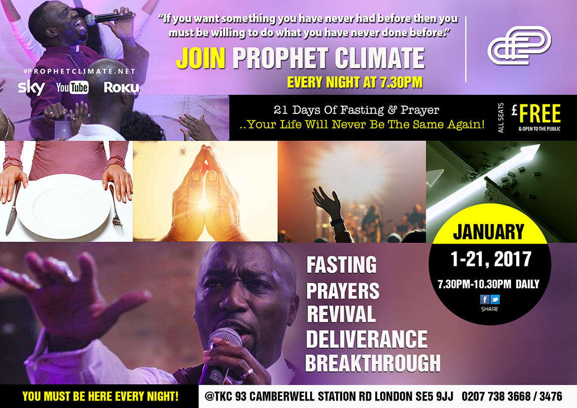 Prophet Climate Ministries PREVIEW-LMC2E-BK-21-DAYS-OF-FASTING-PRAYER-2017 This Is Your Biggest Enemy ... In 2017
