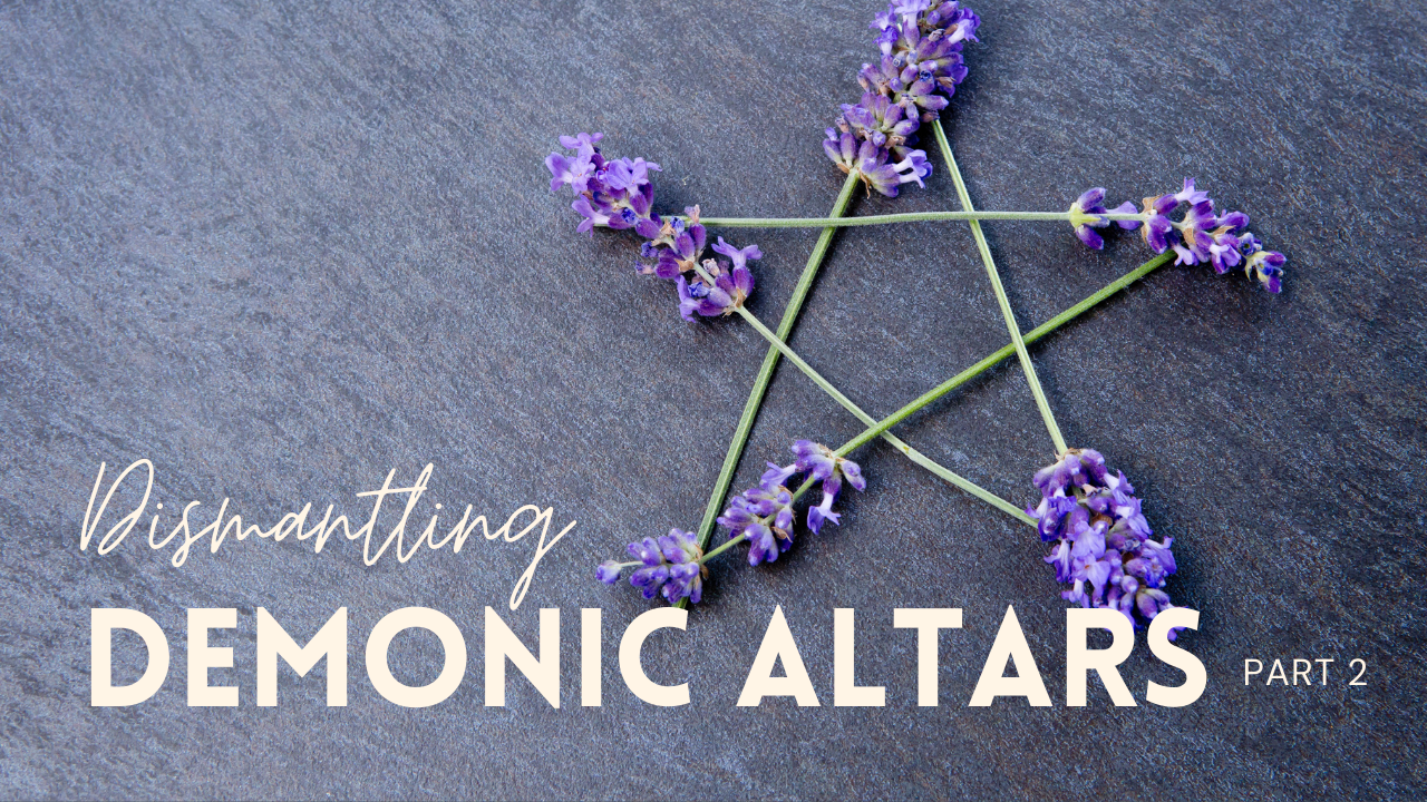 Prophet Climate Ministries demonic-altars-pt-2 Be Strong & Courageous Day 9: I Heard The Foundation Of That Demonic Altar Begin To Crack ... Tonight Is Part 2 We Must Finish It Off!