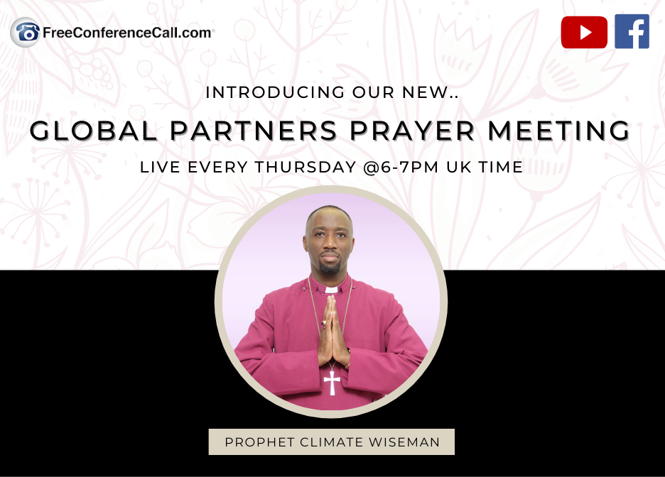 Prophet Climate Ministries GPPM Join Me Tonight For Our Global Partners Prayer Meeting ...