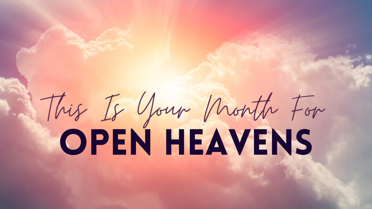 Prophet Climate Ministries open-heavens Now That Your Walls Have Fallen ... I See You Operating Under Open Heavens! Something You Have Been Praying For Is About To Manifest This Month!